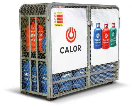 Bottled Calor gas cylinder cage
