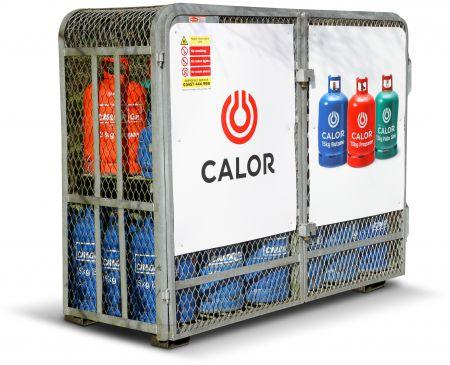 Bottled gas cylinder cage