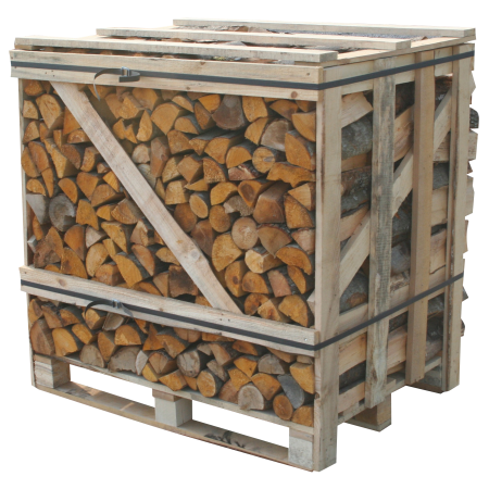 Crate of kiln dried firewood