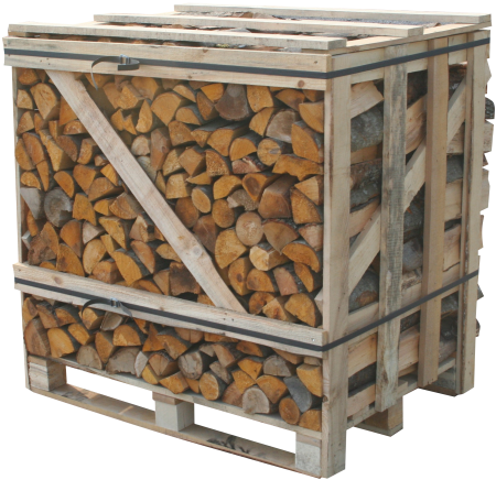 Kiln dried logs crate supplied in bulk