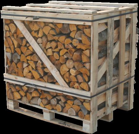 Kiln dried logs crate